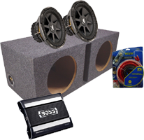 Car Audio Amplified Sub Boxes Dual 15